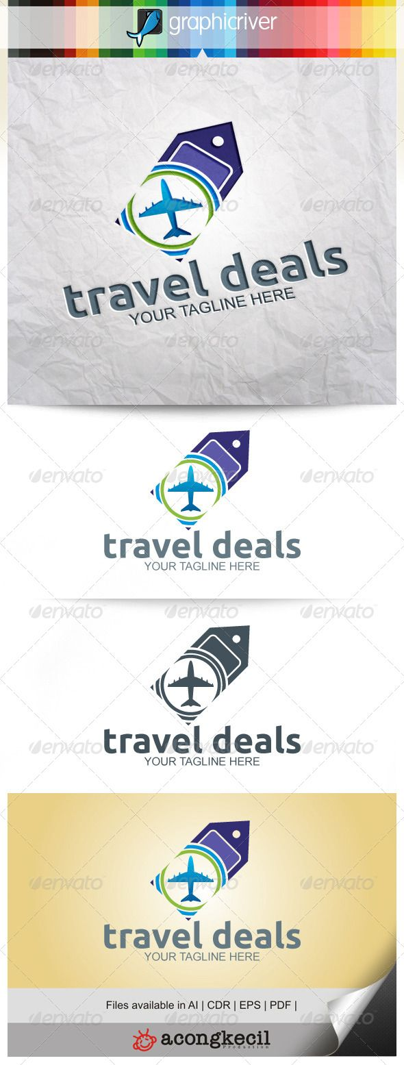 Travel Deals — Vector EPS #tour #trip • Available here → https://graphicriver.net/item/travel-deals/8054693?ref=pxcr
