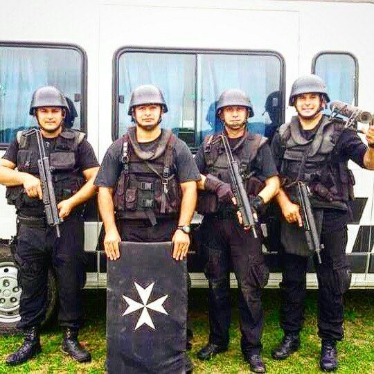 Equipo táctico Coe Policía del Chaco