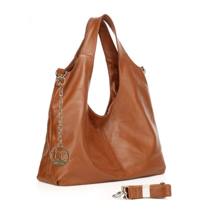 Come & Shop® — 'Bella Charis' Nora Leather Hobo (4 colours)