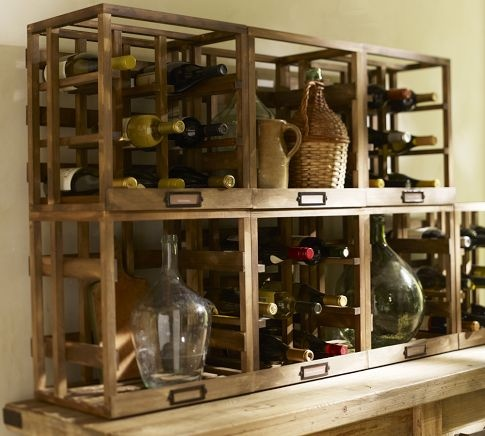 25 best images about dining room on pinterest french for Pottery barn wine rack wood