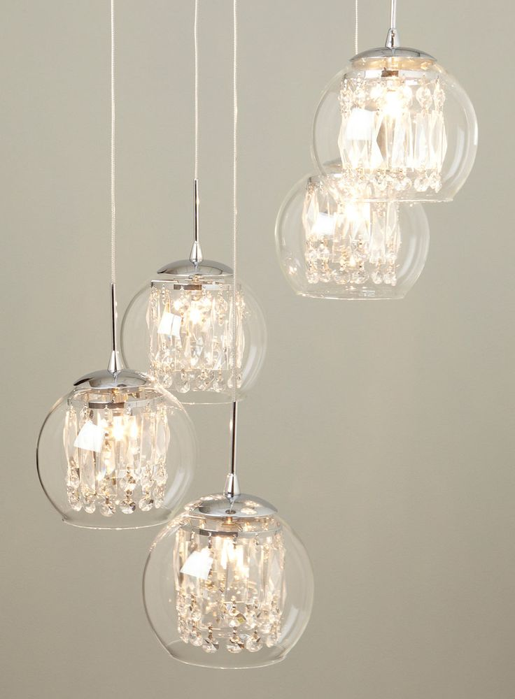 Glass & Crystal Spiral Pendant Chandelier - lighting - For The Home - BHS