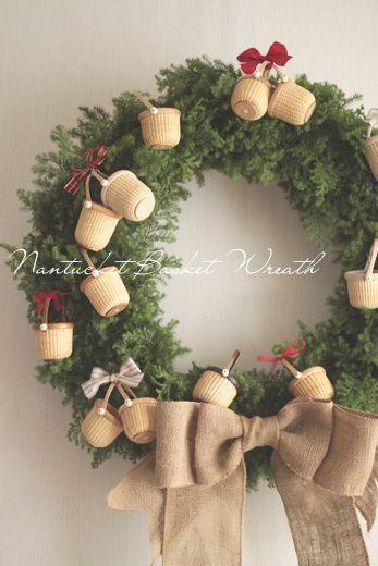 Nantucket Basket Christmas Wreath ♪