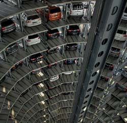 Autostadt de Volkswagen à Wolfsbourg en Basse-Saxe, entre Hanovre et Berlin