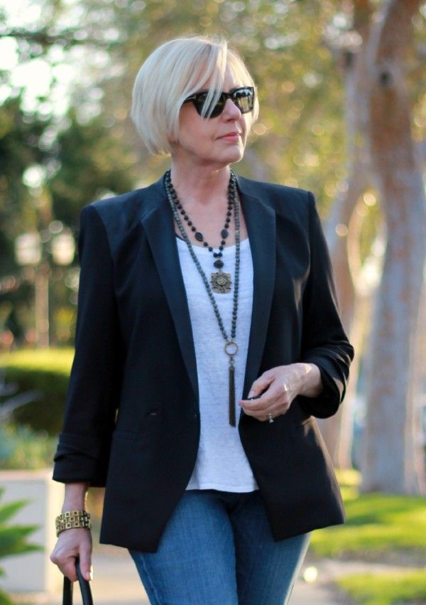 102 Best Images About Fashion For Women Over 50 On Pinterest For Women Denim Jackets And