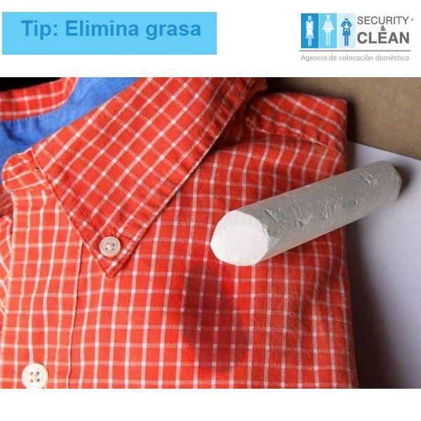 #Tip #Lavado Antes de lavar tu ropa,  frota con un gis la superficie manchada y después lava como de costumbre. El polvo absorberá la grasa y hará el proceso más fácil.