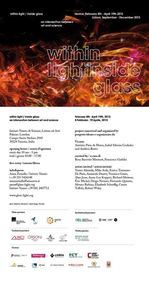 """Within Light // Inside Glass"" - Palazzo Loredan - Venice - 08.02.215-19.04.2015."