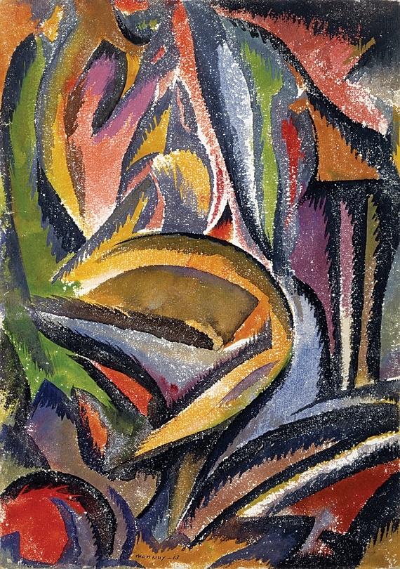 Landscape (Paysage Fauve) by Man Ray, 1913