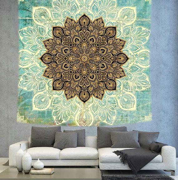 Mandala wall tapestry mandala art wall by Christinedecorshop