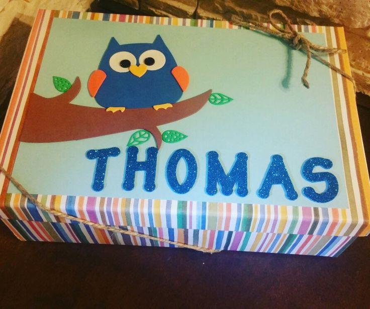 scatola regalo gufo gift box owl baby nascita bebè crepla