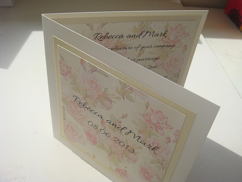 Vintage Rose Country Garden Wedding Invitation