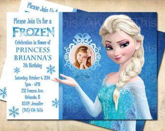 Best Ellianas St Bday Images On Pinterest Birthdays Frozen - Frozen birthday party invitation template free