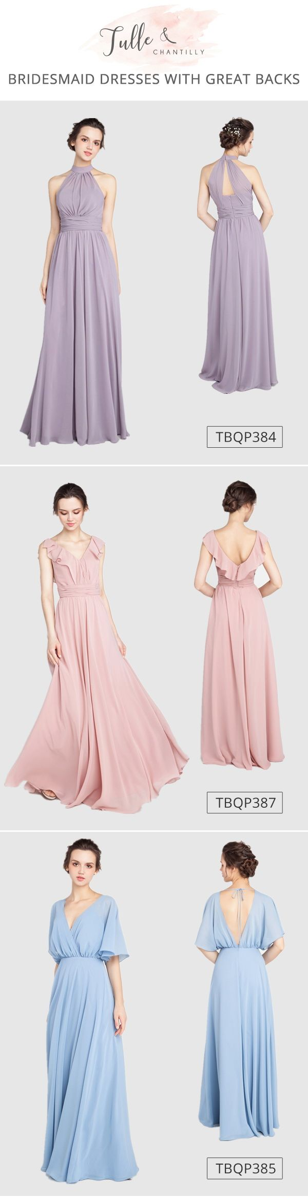 bridesmaid dresses with different back details