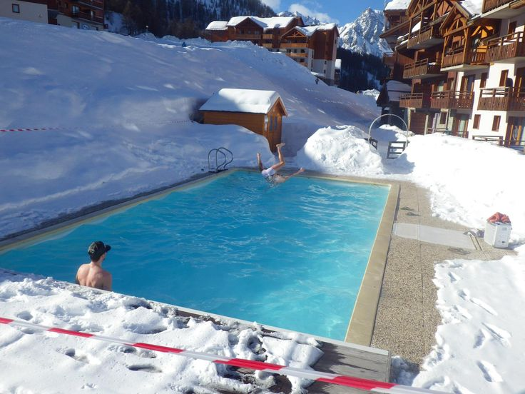 Chillax / Puy St. Vincent, France  #afterwork #pool #chillout