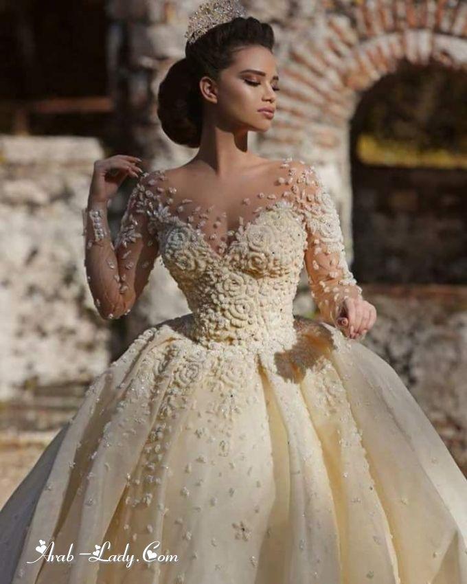 بالصور فساتين زفاف غاية في الأنوثة لعروس 2018 مجلة المرأة العربية Fairy Tale Wedding Dress Gothic Wedding Dress Bridal Dresses