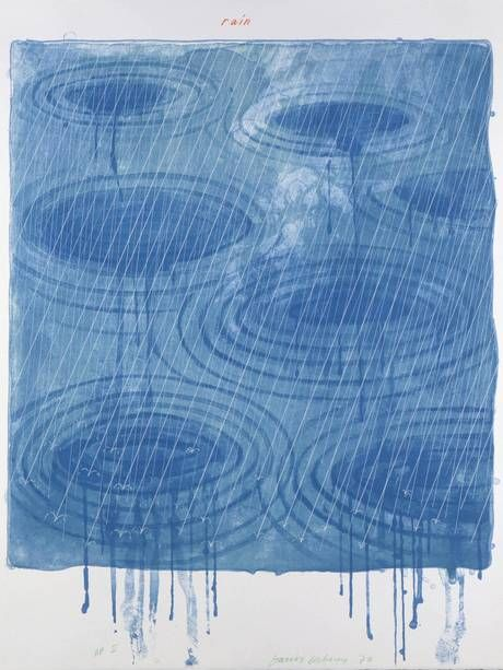 'Rain' (1973) from the 'Weather Series' (David Hockney/Gemiini G.E.L.)