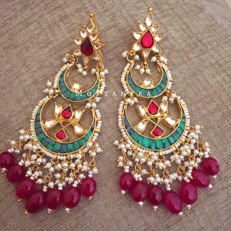 How can a chandbali collection be complete without a double chandbali ❤️ #mortantra #chandbaliexhibition #chandbalis