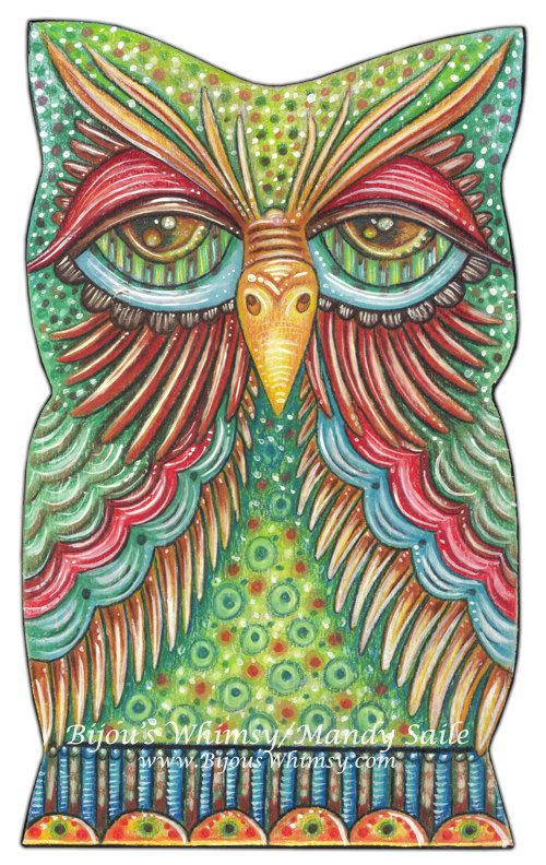 Owlette OBASI  PRINT 8 x 10 by Mandy Saile by BijousWhimsy on Etsy, $20.00