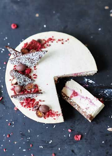 Raw Coconut & Raspberry Cheesecake