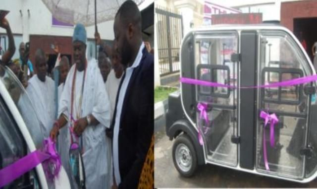 THLD International Logistics Limited, a logistics and energy solution has launched an air-cooling-tricycle powered by liquefied petroleum gas, LPG and converted vehicles running on dual systems of petrol and LPG or cooking gas.  The event took place on Thursday at the Palace of Oba Adeyeye Ogunwusi, Ooni of Ife, in Ile-Ife, Osun State.   #THLD Unveils Dual System Tricycle #Vehicles At Ooni's Palace
