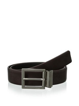 66% OFF Michael Kors Men's Square Buckle Reversible Belt (Black/brown)