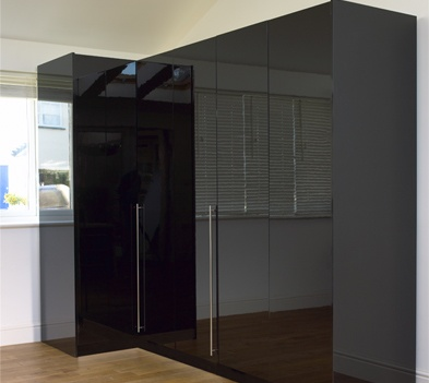 One of the most popular wardrobe choices, modular black gloss wardrobes