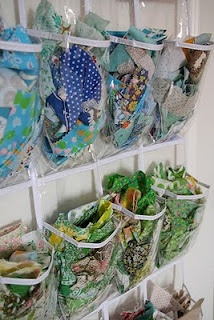 Scrap fabric storage. Would also work to store all my different types of chain for jewelry crafting :-)