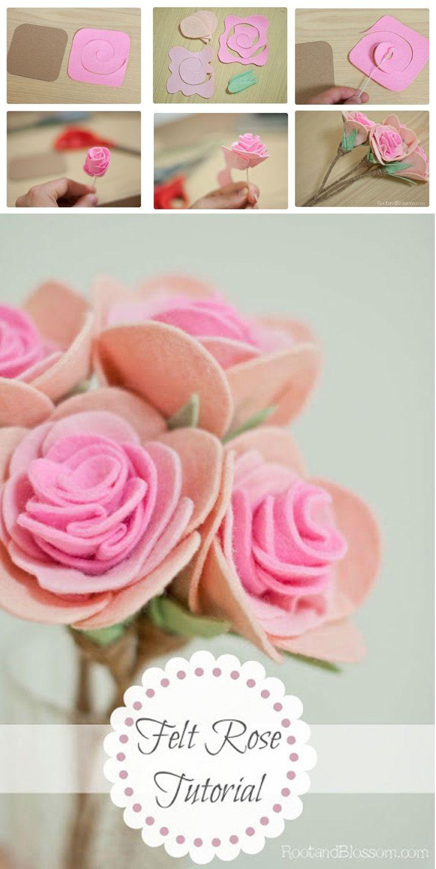 Faça Você Mesmo - Rosas de feltro