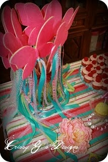 Butterfly wands from Lauren's Fancy Nancy party.