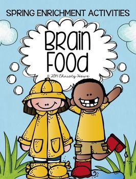 SPRING Brain Food! Printable Activities for Creative Thinking.  Differentiated for varied student interests and abilities!