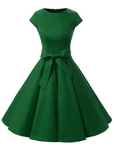 1b4d2f5ac0f Dressystar DS1956 Women Vintage 1950s Retro Rockabilly Prom Dresses Cap Buy  now from Amazon Fabric Choose  90% Cotton 10% Elastane Fastening  Zip  Style  A ...