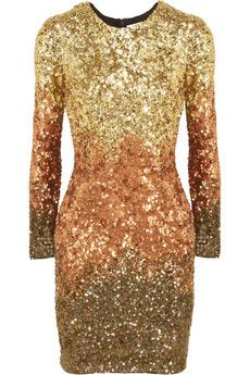 RACHEL GILBERT Shivaun dégradé metallic sequined dress $1100  http://hollyrotic.mybigcommerce.com/rachel-gilbert-shivaun-degrade-metallic-sequined-dress-1100/