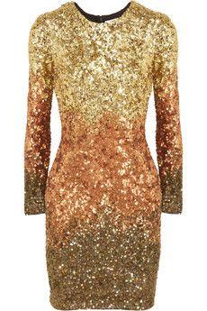 Rachel Gilbert Shivaun degrade metallic sequined dress @ Net-a-Porter // I WANT!!!!