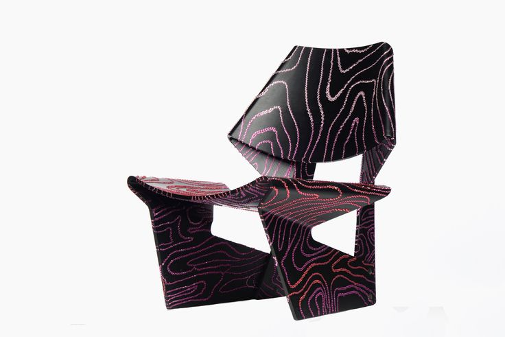 A crystallized chair designed by Kelly Wearstler for Swarovski as part of the Pink Jalk Project to benefit the Breast Cancer Research Foundation.