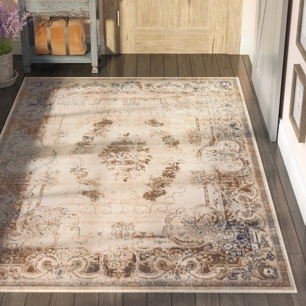 Abbeville Oriental Cream Brown Area Rug With Images Farmhouse