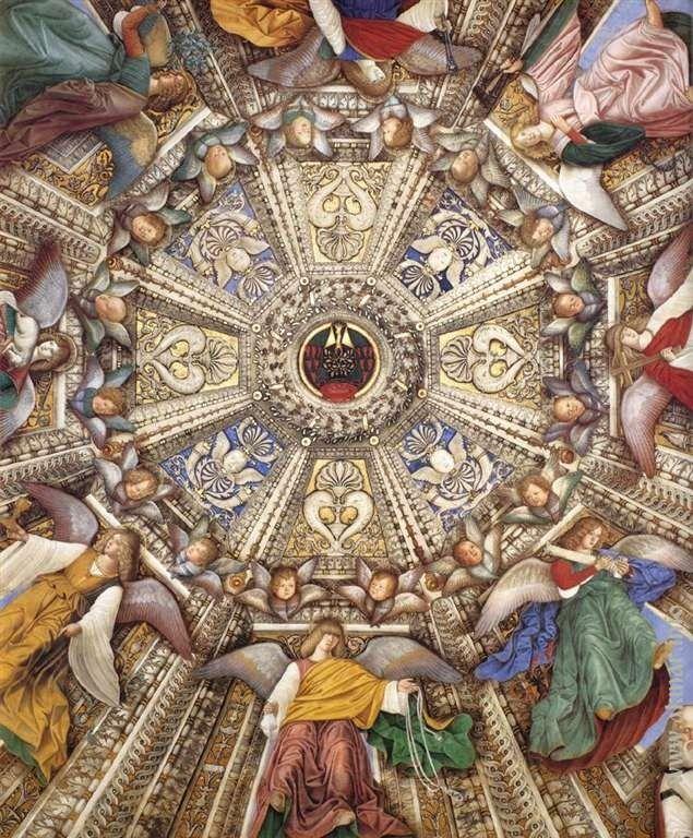 Melozzo_da_Forl. Украшения купола. Деталь. После 1484. Ризница Сан-Марко базилики Санта делла Каса. Лорето. Италия