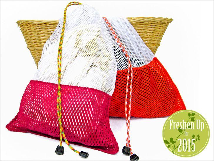 Mesh Sacs à linge avec des sommets de cordonnet: Tendances beauté pour 2015   Sew4Home