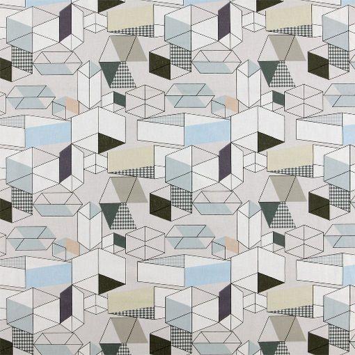 Baumwolle, Natur mit graphischem Print - Stoff & Stil