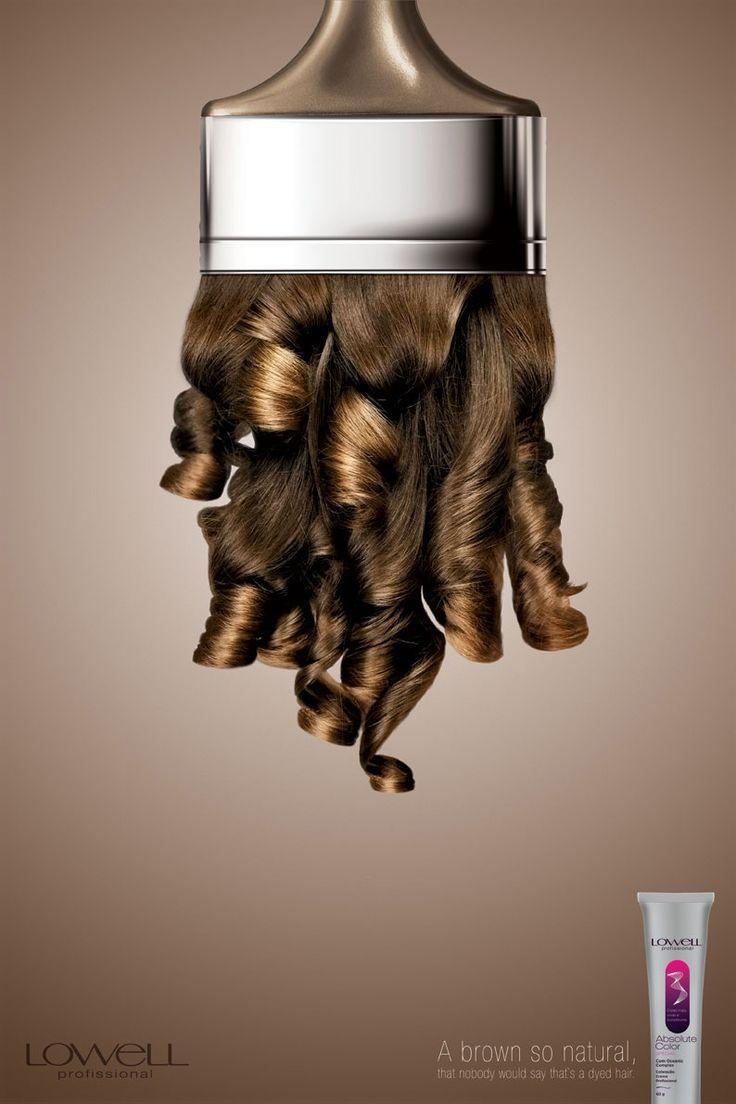 """Brown"" - creative hair coloring advert | advertising. Werbung. publicité | Ad: Lowell | Photo: Claus Lehman |"