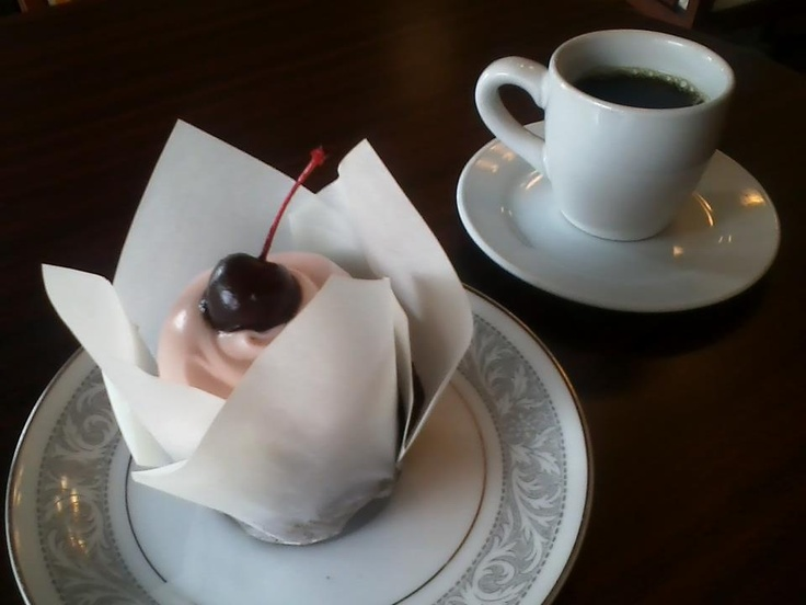 Chocolate covered cherry cupcake at Limestone Cafe | Tastes of ...