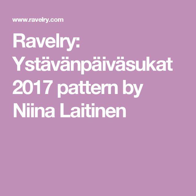 Ravelry: Ystävänpäiväsukat 2017 pattern by Niina Laitinen