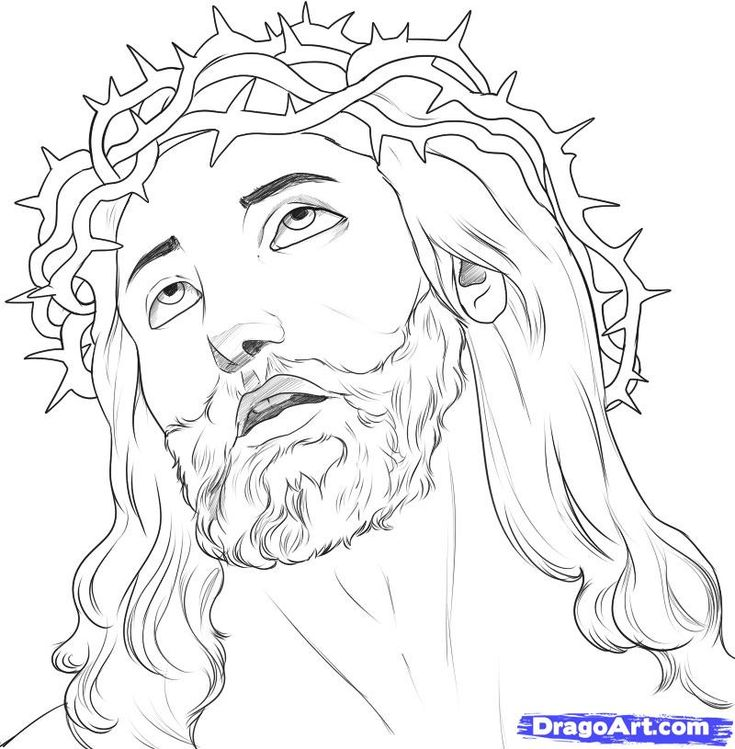 Drawing Lines With C : Jesus christ on the cross drawings how to draw