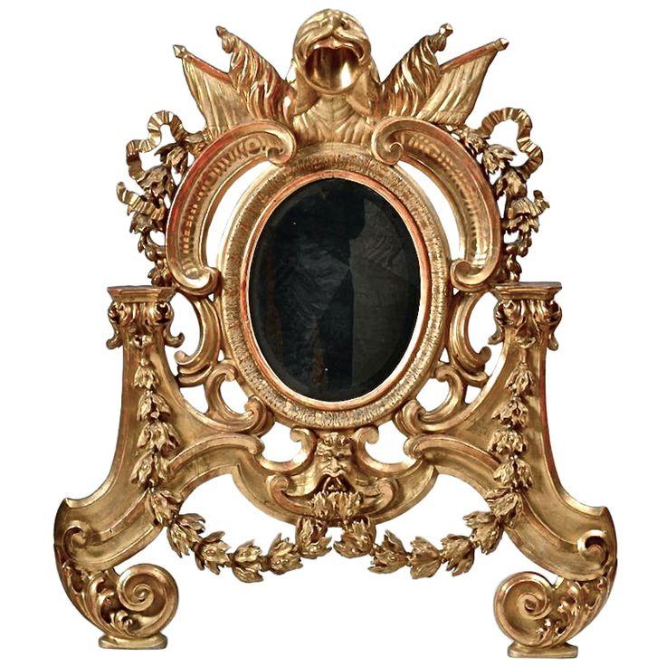 1stdibs.com | Italian Baroque Giltwood Mirror, Roman