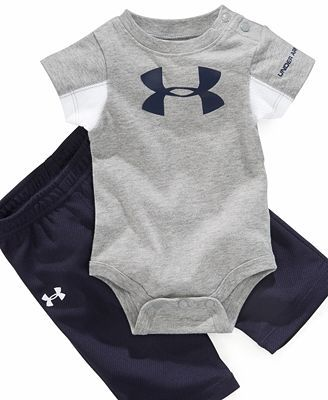 Under Armour Baby Set, Baby Boys Logo Bodysuit and Pants