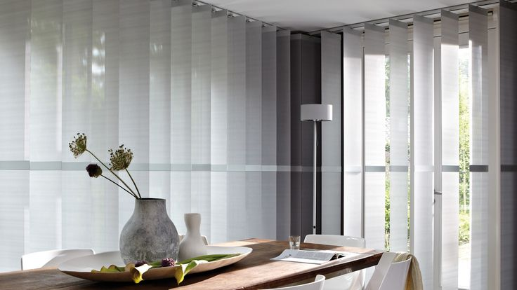 Get inspired by Luxflex window decoration. Vertical Blinds