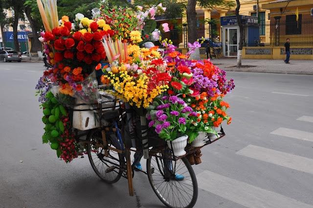 flower delivery bike