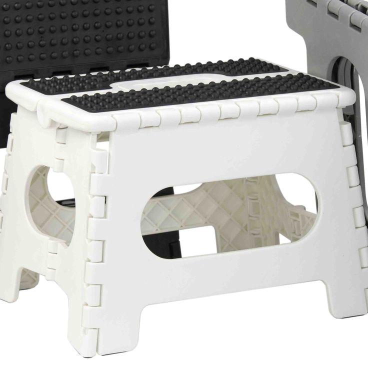 Medium 1-Step Plastic Folding Step Stool