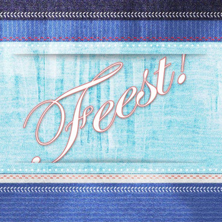Een stoere kaart met Jeans print en fotostapel aan de binnenzijde. Een trendy kaart voor hem en haar en voor jong en oud! Veel plezier ;-)