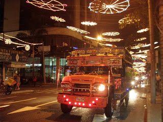 Chiva touring the Christmas Lights