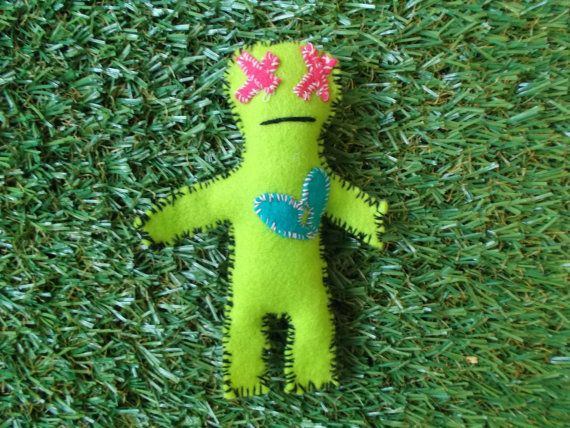 Cute Voodoo  Neon by LoveandSqualorCrafts on Etsy, $15.00