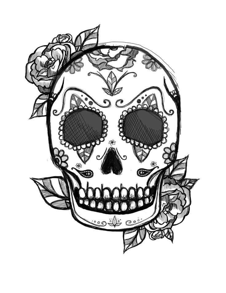 Mexican Skull Tattoo Design Tattoo Designs Pinterest